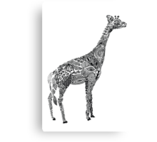Designer Giraffe Canvas Print