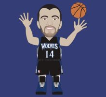 Caricatura de Nikola Pekovic, center de los Minnesota Timberwolves by D4RK0