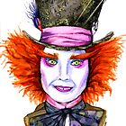 Mad Hatter Watercolor by Lauren Draghetti