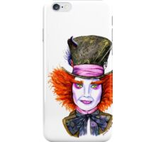 Mad Hatter Watercolor iPhone Case/Skin