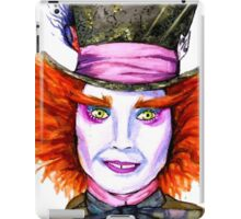 Mad Hatter Watercolor iPad Case/Skin
