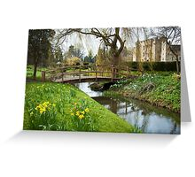 Heaver Castle in Springtime Greeting Card
