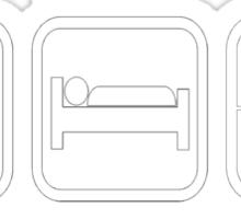 Eat, Sleep Headshot Sticker