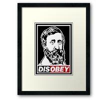 "Henry David Thoreau ""Disobey""  Framed Print"