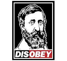 "Henry David Thoreau ""Disobey""  Photographic Print"