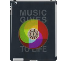 Music Gives Colour To Life iPad Case/Skin