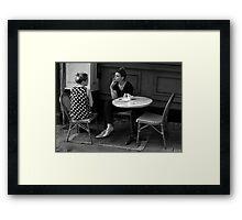At The Cafe... Framed Print