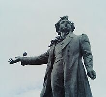 Pushkin Monument in St. Petersburg, Russia. by marisaurus