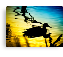 Sunset on Jubilee Lake Canvas Print