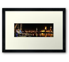 Westminster and the Wheel Framed Print