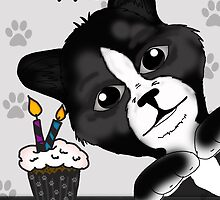 Cat Birthday Card Saying Happy Purrr-thday! by Moonlake