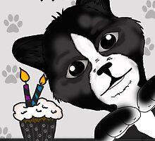 Cat Birthday Card Saying Happy Purrr-thday! by Moonlake