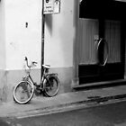 Bicycle by the road Florence, Italy by will897