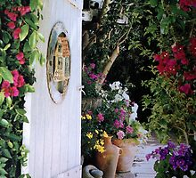 DOOR IN THE GARDEN GREETING CARD by dagokid