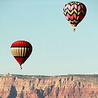 Hot Air Balloon thru Cliffs by amyschuldies
