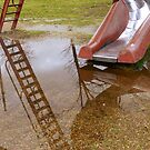 Reflections Of A Ladder by WildestArt