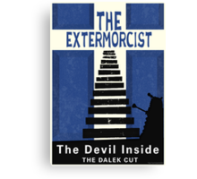 The Devil Inside. The Dalek Cut. Canvas Print