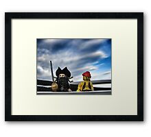 Pirate Practice: Sailing with the Captain Framed Print