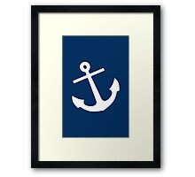Navy Blue Anchor Framed Print
