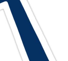 Navy Blue Anchor Sticker