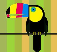 CMYK Toucan by Scott Partridge