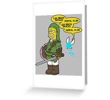 The legend of Zel- er... D'OH! Greeting Card