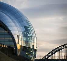 The Sage and Tyne Bridge by TehRen