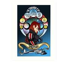 The Commander is my Shepard (RED HEAD EDITION) Art Print