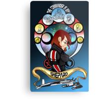 The Commander is my Shepard (RED HEAD EDITION) Metal Print