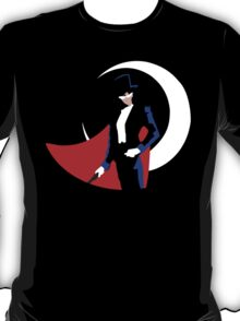 Tuxedo Mask on black T-Shirt