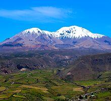 Taapaca Volcano, Chile by Kurt  Van Wagner