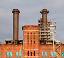 dismantling old smoke stacks by pmarella
