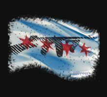 Tommy Gun Flag by biddywax