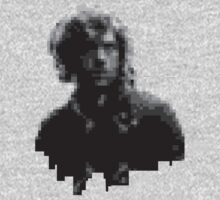 Enjolras - 8 Bit - Monochrome Design by Hrern1313