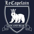 LeCapelain Family Crest (white) by fireflyjar