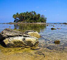 Low tide, Nai Yang, Phuket by Kevin Hellon
