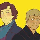 Sherlock Holmes & John Watson by ManyBiscuits