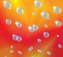 red background with bubbles by valeo5