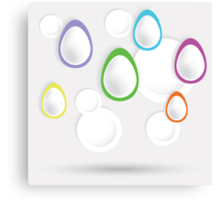 easter eggs paper  background Canvas Print