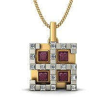 Gold Ruby Pendants  by jemsw