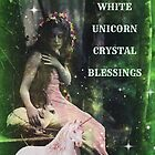 White Unicorn Crystal Blessings by Princess Moon Feathers