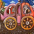 Cinderella in a pumpkin coach by Penny Hetherington