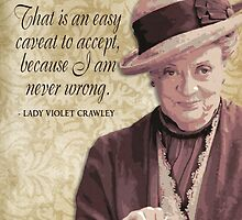 Downton Abbey Inspired - The Wit & Wisdom of Lady Violet Crawley on Modesty by traciv