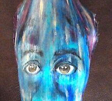Blue face - Palm Frond by Cathy Gilday