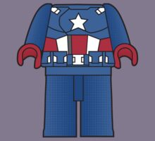 Captain America Body Tshirt by Jonathan  Ladd