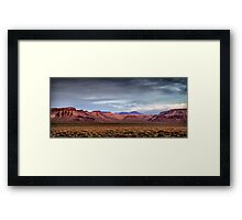 Nevada Bluffs Sunset Framed Print