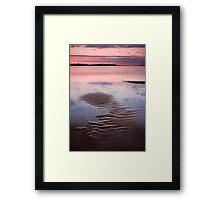 Sand Shapes on a Rising Tide Framed Print