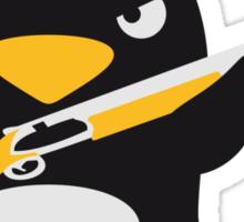 Shotgun Penguin Sticker