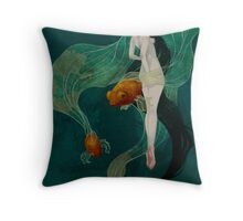 Swimming in Memories Throw Pillow