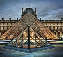 Louvre Pyramids by Steve Oldham